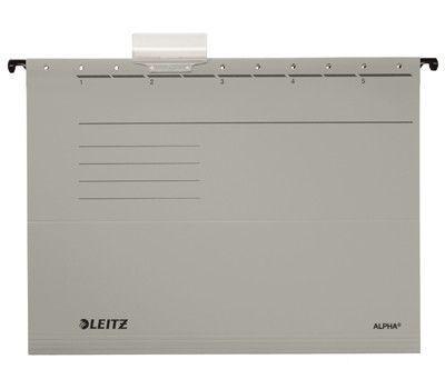 Závěsné desky Leitz ALPHA typu V, šedé