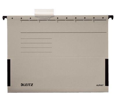 Závěsné desky Leitz ALPHA s bočnicemi, šedé