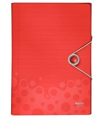 Aktovka na spisy s přihrádkami Leitz BEBOP, červená