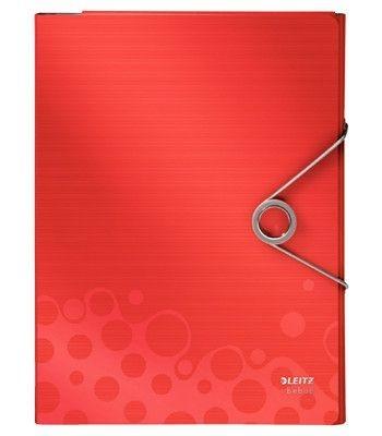 Desky na dokumenty Leitz BEBOP s gumičkou, červené