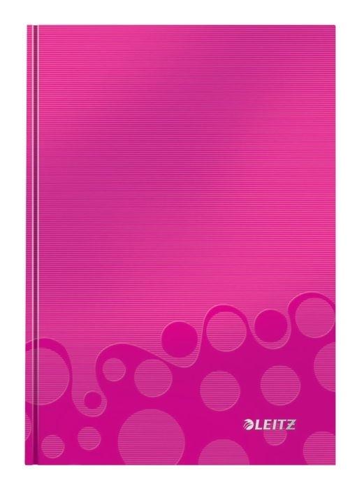 Zápisník Leitz WOW A5, čtverečkovaný, růžový