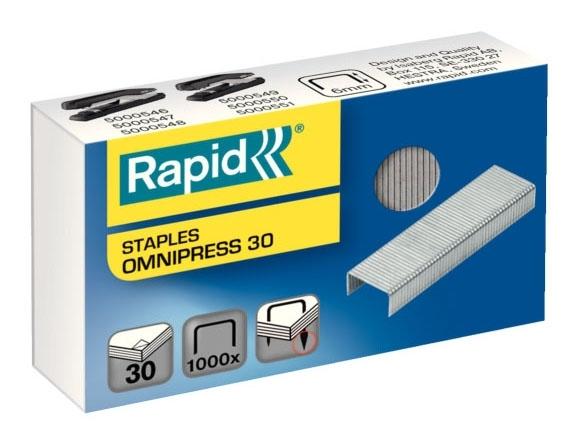 Spojovače kancelářské Rapid Omnipress 30 (balení 1.000 ks)
