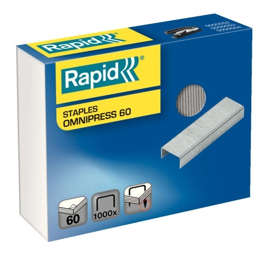 Spojovače kancelářské Rapid Omnipress 60 (balení 1.000 ks)