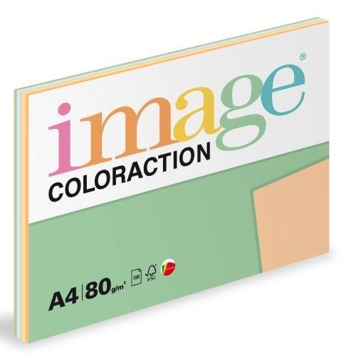 Barevný xerografický papír Coloraction A4, 80 g, pastelové barvy 5×20 listů