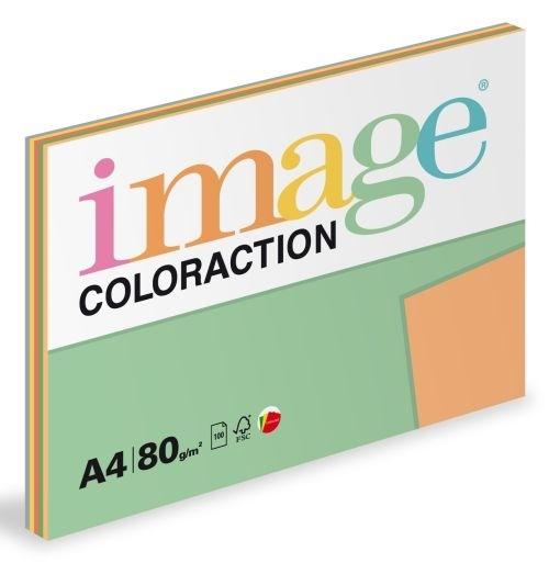 Barevný xerografický papír Coloraction A4, 80 g, intenzivní barvy 5×20 listů