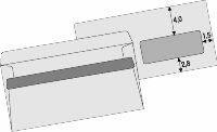 Obálka DL s okénkem, samolepicí