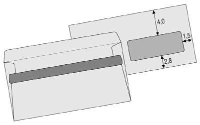 Obálka DL s okénkem, samolepicí, balení 100 ks