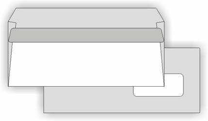 Obálka DL s okénkem, samolepicí, balení 50 ks