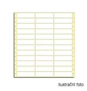 Etiketa samolepicí s vodící perforací třířadé 70x36
