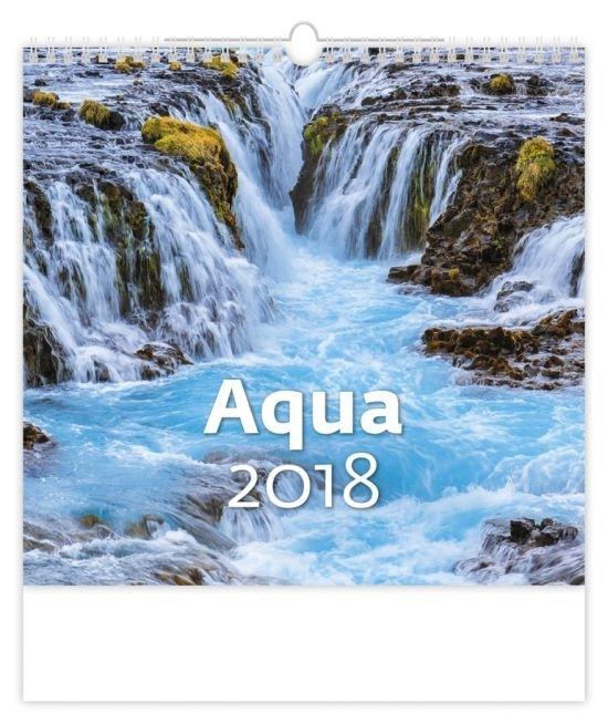 Nástěnný kalendář Aqua 2017