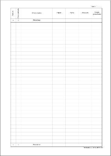 Tiskopis Pokladní kniha bez DPH samopropisovací