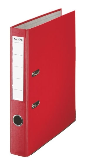 Pořadač pákový PP A4 50 mm, červený