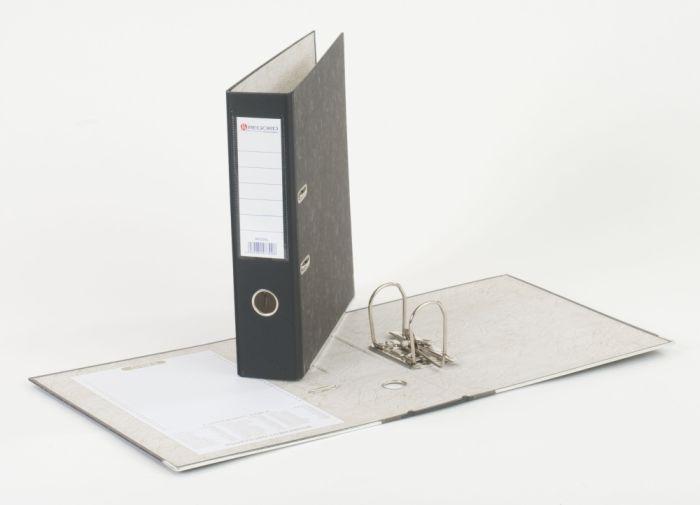 Pořadač pákový A4, hřbet 80 mm, mramor