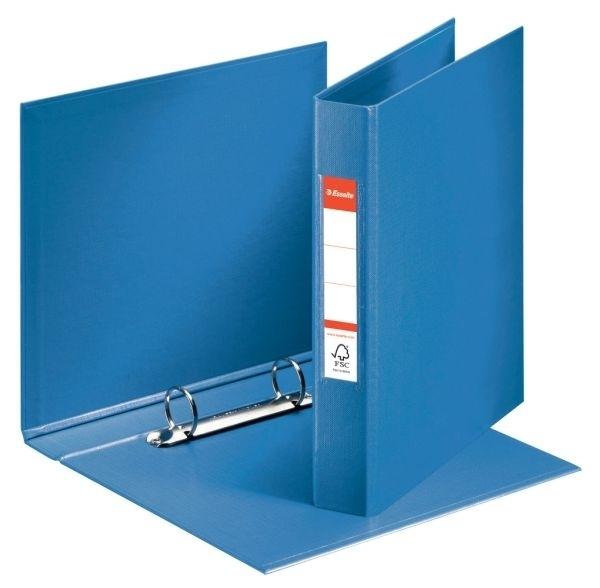 Pořadač A5 2 kroužkový, PVC, hřbet 42 mm, modrý