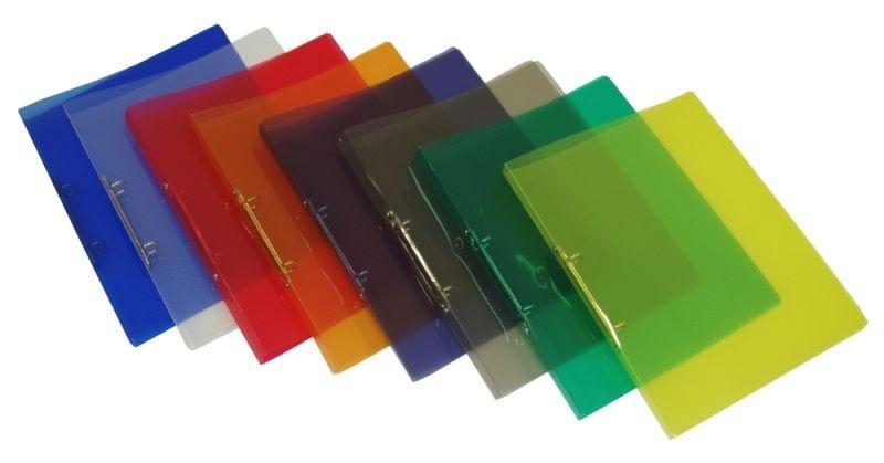 Pořadač dvoukroužkový průhledný A5, mix barev