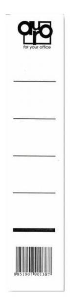 Štítky pro pořadač šíře hřbetu 50 mm vsuvné (balení 20 ks)