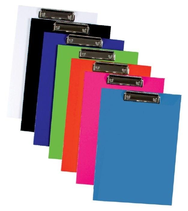 Podložka psací s klipem, jednodeska, A4, lamino, červená
