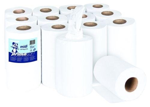 Papírové ručníky v roli, bílé, dvouvrstvé
