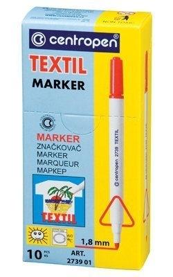 Popisovač na textil 2739, červený