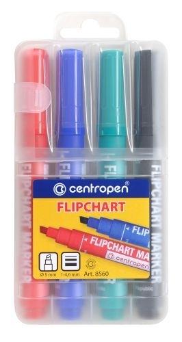 Značkovač na flipchart CENTROPEN 8560, sada 4 ks