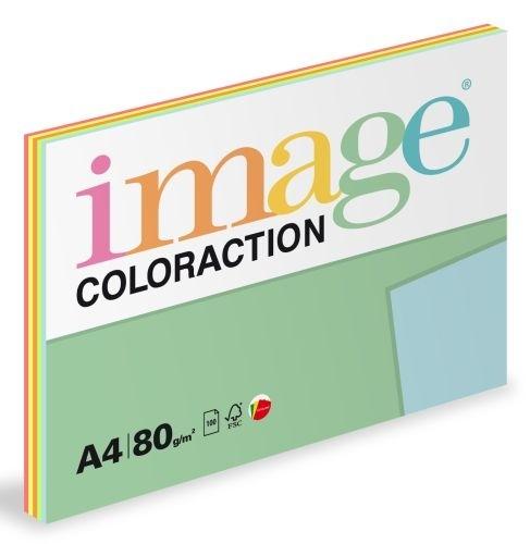 Barevný xerografický papír Coloraction A4, 80 g, reflexní barvy 5×20 listů